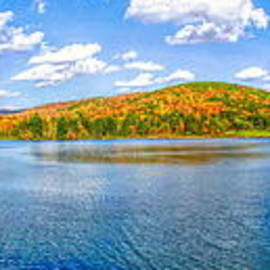 Rose Santuci-Sofranko - Autumn Panorama of Red House Lake in Allegany State Park