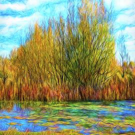 Autumn Pond Interlude by Joel Bruce Wallach