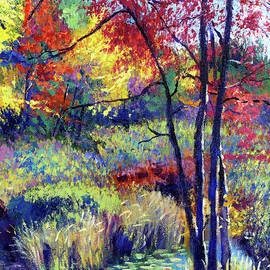 David Lloyd Glover - Autumn Pond Plein Air
