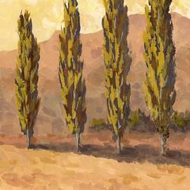 David King - Autumn Poplars