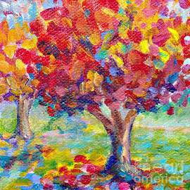 Peggy Johnson - Autumn Reds by Peggy Johnson