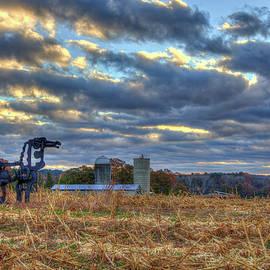 Autumn Rest The Iron Horse Sunrise Farm Art by Reid Callaway