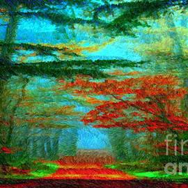 Autumn Road by Rafael Salazar