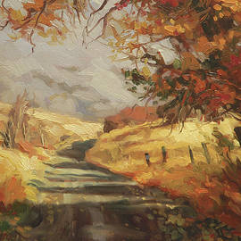 Autumn Road by Steve Henderson