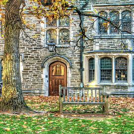Geraldine Scull - Autumn scene at Princeton University Princeton NJ