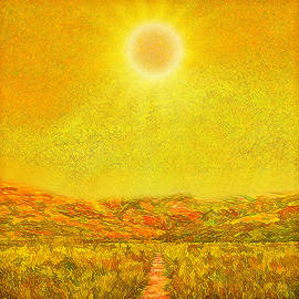 Joel Bruce Wallach - Golden Sunlit Path - Marin California
