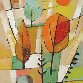 Autumn Trees Painting by Lutz Baar