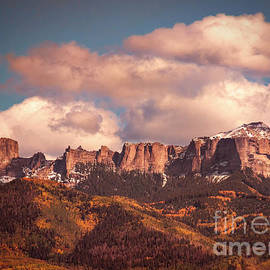 Autumn Uncompahgre Peaks by Janice Pariza