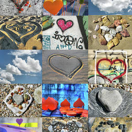 Awesome Hearts - Collage by Daliana Pacuraru