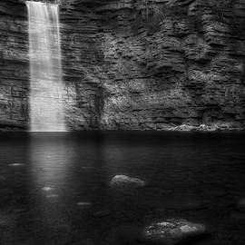 Awosting Falls Black and White by Bill Wakeley