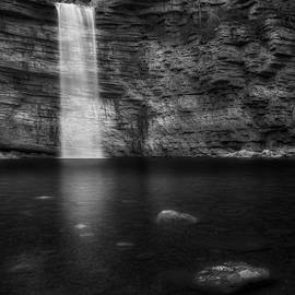 Awosting Falls Square Black and White by Bill Wakeley