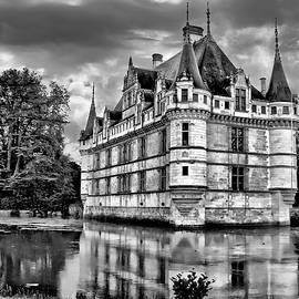 Azay-le-Rideau - BW by Nikolyn McDonald