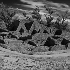 Aztec Ruins Panorama New Mexico BW