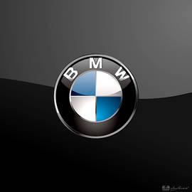 B M W  3 D Badge on Black