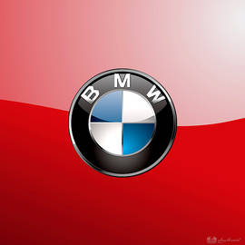 B M W Badge On Red