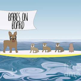Babies on Board by Barefoot Bodeez Art