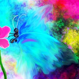 Abstract Angel Artist Stephen K - Baby Blue Butterfly Reverie