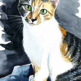 Baby - Calico Cat Painting by Dora Hathazi Mendes