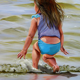Phyllis Beiser - Baby Catching A Wave