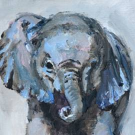 Baby Elephant Safari Animal Painting
