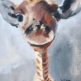 Baby Giraffe Safari Animal Painting