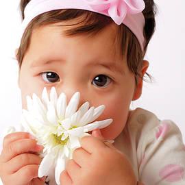 Gaukhar Yerk - Baby girl with flower