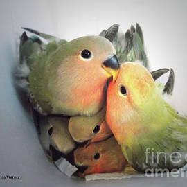 Malanda Warner - Baby Lovebird Huddle