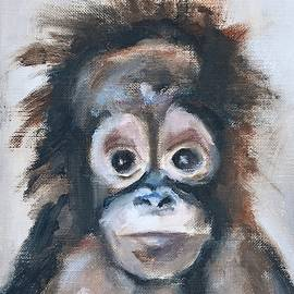 Donna Tuten - Baby Orangutan Safari Animal Painting