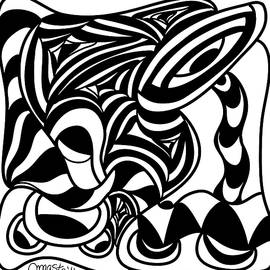 Back In Black And White 4 Modern Art By Omashte by Omaste Witkowski