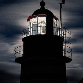 Marty Saccone - Backlight By Moonlight West Quoddy Head Lighthouse