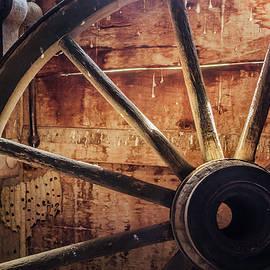 Backlit wagon wheel by Jim Love