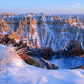 Badlands At Sunset by Larry Ricker