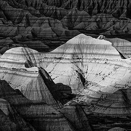 Badlands In Contrast by Andy Crawford