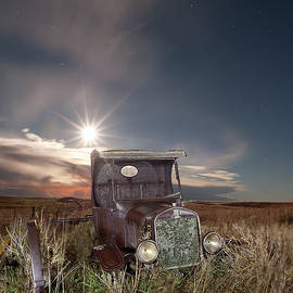 Tom Phelan - 1925 Ford Model T truck with Moon Behind