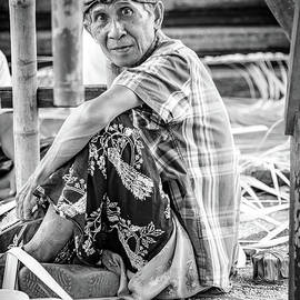 Balinese Man Prepares For Full Moon Festival At Temple Near Ubud, Bali - Black And White by Global Light Photography - Nicole Leffer
