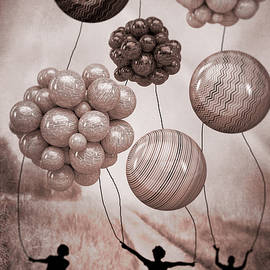 Balloon Contest - Sepia by Ericamaxine Price