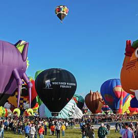 Balloon Fiesta Albuquerque I by Lon Dittrick