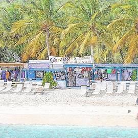Jost Van Dyke Beach Bar by Kristina Deane