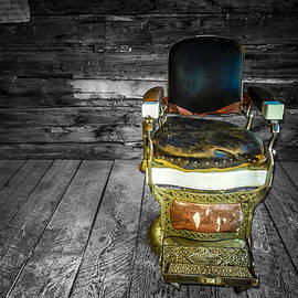 Ghost Town Barber Chair No. 1 by Sandra Selle Rodriguez