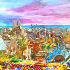 Stefano Senise - Barcelona from Park Guell