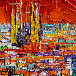 Mona Edulesco - Barcelona View From Parc Guell - Abstract Miniature