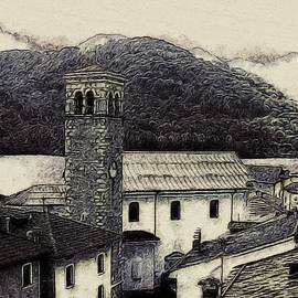 Barcis Italy in Ink by Susan Maxwell Schmidt