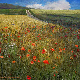 R christopher Vest - Barley And Poppies