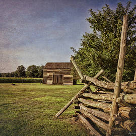 Barn at Monmouth Battlefield by Louise Reeves