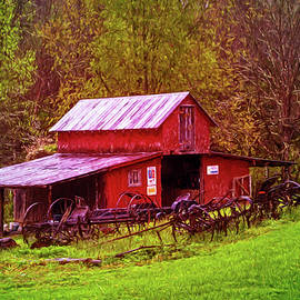 Debra and Dave Vanderlaan - Barn Collectibles on the Farm Oil Painting