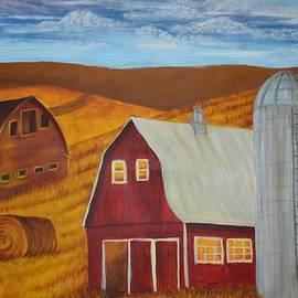 Barn Fields by Elena Verovoy