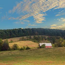 Barn In Field by Malcolm L Wiseman III