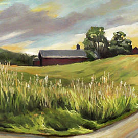 Barn On The Ridge by Nancy Griswold
