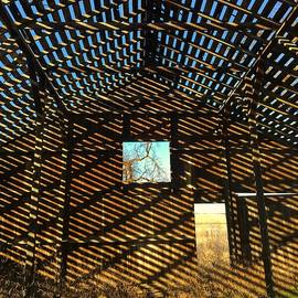 Barn Rafter Shadows by Jerry Abbott