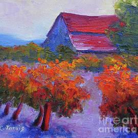 Carolyn Jarvis - Barn Vineyard Autumn